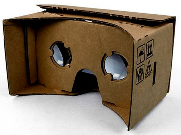 Google's Virtual Reality 'hardware', known as 'Cardboard', named after its...cardboard construction