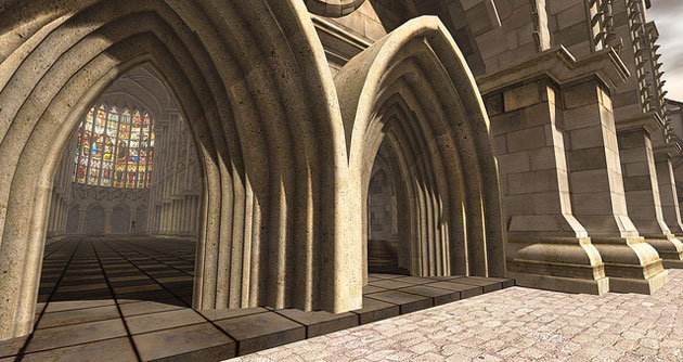 A tribute to the Tudor era -- one of the creations Second Life's citizens have contributed to the online world.