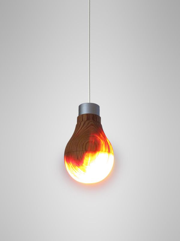 wooden lightbulb